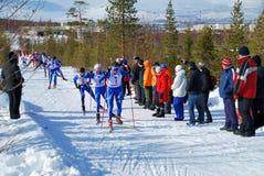 Maratón del esquí Imágenes de archivo libres de regalías