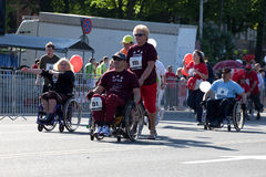 Maratón del International de Riga Fotos de archivo libres de regalías