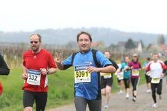 Maratón Deutsche Weinstrasse Fotografía de archivo libre de regalías