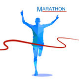 Maratón el ganador, poligonal Fotografía de archivo libre de regalías