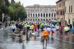 Maratón en Roma Fotos de archivo libres de regalías