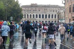 Maratón en Roma Foto de archivo libre de regalías