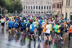 Maratón en Roma Foto de archivo