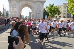 Maratón en Skopje Imagen de archivo libre de regalías