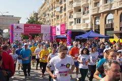 Maratón en Skopje Imagen de archivo