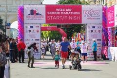 Maratón en Skopje Foto de archivo libre de regalías