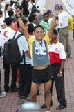 Maratón feliz del kilolitro del ganador Foto de archivo libre de regalías