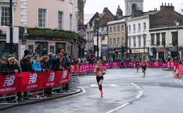 Maratón grande de la vitalidad el medio en Londres fotos de archivo