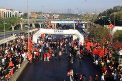 Maratón intercontinental de Estambul Eurasia Fotos de archivo libres de regalías
