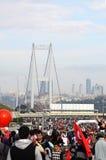 Maratón intercontinental de Estambul Eurasia Foto de archivo libre de regalías