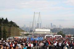 Maratón intercontinental de Estambul Eurasia Fotos de archivo