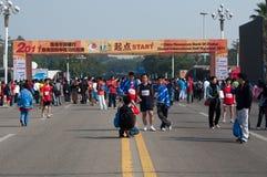 Maratón internacional 2011 de Zhuhai el medio Fotografía de archivo