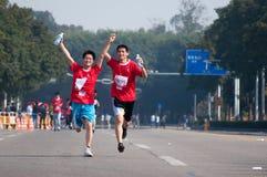 Maratón internacional 2011 de Zhuhai el medio Imagen de archivo libre de regalías