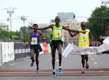Maratón internacional 2015 de Bucarest medio Imagen de archivo