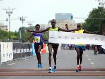 Maratón internacional 2015 de Bucarest medio Imágenes de archivo libres de regalías