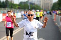 Maratón internacional 2015 de Bucarest medio fotografía de archivo
