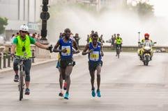 Maratón internacional 2015 de Bucarest medio Foto de archivo libre de regalías