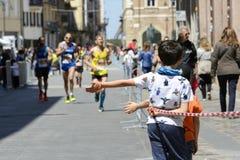 Maratón 2017, Italia de Rímini fotos de archivo