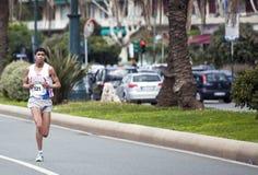 Maratón Vivicitta 2010 - el ganador Khalid Gallab Fotografía de archivo libre de regalías