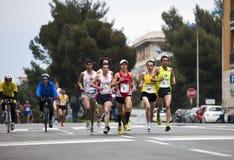 Maratón Vivicitta 2010 - pisada del grupo Foto de archivo libre de regalías