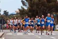 Maratón Vivicitta 2010 - seguidores del grupo Fotos de archivo