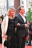 Marat Basharov и Ekaterina Arkharova на XXXVI международном кинофестивале Москвы Стоковая Фотография