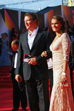 Marat Basharov and Anna Sazonova at Moscow Film Festival Royalty Free Stock Photos