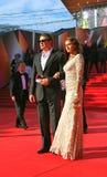 Marat Basharov and Anna Sazonova at Moscow Film Festival Stock Photos