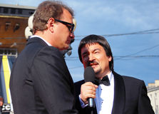 Marat Basharov en el festival de cine de Moscú Imagenes de archivo