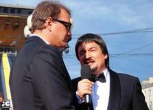 Marat Basharov på Moskvafilmfestivalen Arkivbilder