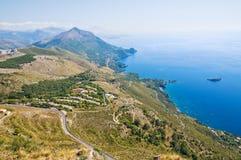 Maratea全景。巴斯利卡塔。意大利。 库存图片