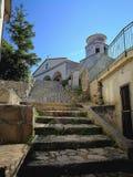 Maratea - Ansicht der Kirche von San Biagio stockbild