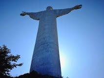 Maratea - statue du Christ dans le contre-jour Images stock