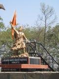 Maratha King Chatrapati Sambhaji Maharaj statue. Its photo of Chatrapati Sambhaji Maharaj statue at Tulapur, Pune royalty free stock image