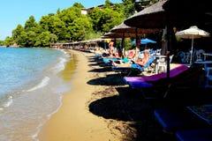 Maratha strand, Skiathos, Grekland Fotografering för Bildbyråer