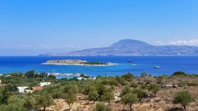 Marathi Bay in Chania, Crete, Greece stock photos