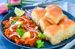 Indian street food- pav bhaji Stock Photography