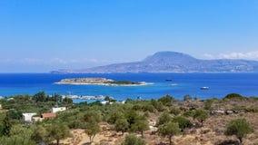Marathifjärd i Chania, Kreta, Grekland arkivfoton