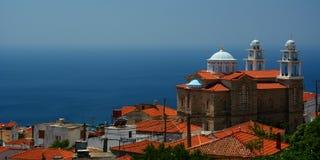 Marathokampos Isola di Samos La Grecia fotografia stock libera da diritti