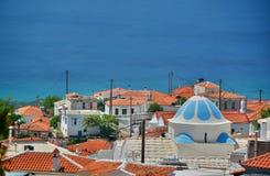 Marathokampos. Samos island. Greece Royalty Free Stock Photos