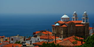 Marathokampos. Samos island. Greece Royalty Free Stock Photography