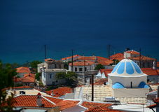Marathokampos. Samos island. Greece Stock Photography