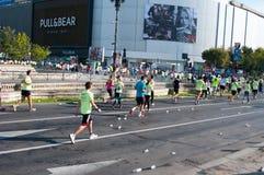 Marathon à Bucarest du centre Photo libre de droits