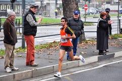 Marathon 2010, Abbatescianni Diego, Italie de Turin Image stock