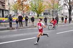 Marathon 2010, Giannone Alessandro, Italie de Turin Photos libres de droits