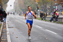 Marathon 2010, Hartvig Riccardo, Italie de Turin Photographie stock libre de droits