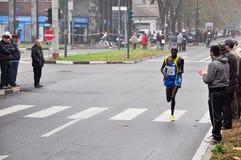 Marathon 2010, Richard Rotich, Kenya de Turin Images libres de droits