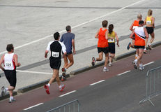 Marathon. Runners participating in a marathon stock image