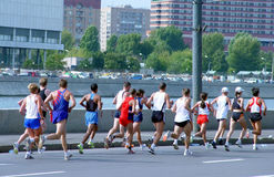 Marathon. In Moscow stock photography
