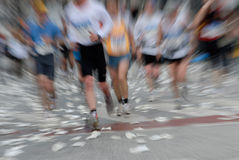 Marathon. Racer at the Hamburg  2006 in germany, europe. Motion effect from the original shot Stock Photography